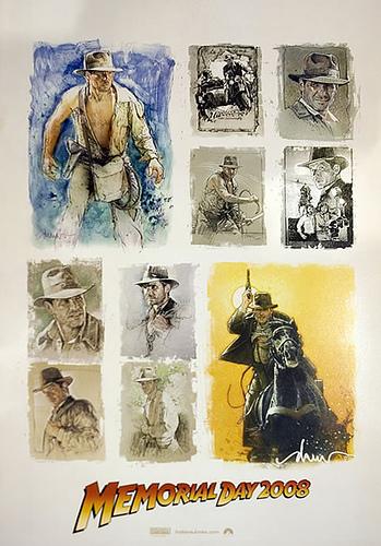 Póster de promoción para Indiana Jones 4